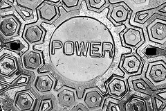 Power BW (5of7) Tags: manhole cover removable plate lid over opening unauthorized material covers iron strong heavy weighing weight traffic unauthorised remove usually feature pick holes hook concealed light shine collectible ubiquity many patterns descriptions printed pickholes power text word closeup blackandwhite bw castiron circle pentagon geometric shape shapes contrast very good well captured verygood wellcaptured nice shot fav outdoor nopeople 10fav 12fav andromeda50bestofthebest supersix
