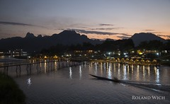 Vang Vieng (Rolandito.) Tags: south east asia lao laos pdr vang vieng river dusk abend evening twilight karst mountain mountains
