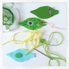 Euglena WIP (hine) Tags: microbe plankton microorganisms wip handmade hine hinemizushima biology art craft