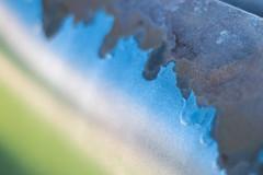 Macro Mondays - Theme: Chip (amdovsen) Tags: chip macromondays paint color iron steel chipped blue green