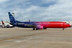 N493AS - Boeing 737-990ER(WL) - Alaska Airlines - KATL - May 2017 (peachair) Tags: n493as boeing 737990erwl alaska airlines katl may 2017 cn 41727 5738 special virgin merger colors moretolove america