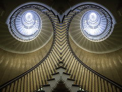 Twit-Twoo...(Explored 5th May, 2017 No128) (Hemzah Ahmed) Tags: owl twittwoo stairs staircase stair brewersstaircase cecilbrewer london londonist londontown londonbylondoners londonarchitecture timeout timeoutlondon canon5dmarkiii canon5dmark3 1635mm canon1635mmf4 abstract art symmetrical symmetry design light lights