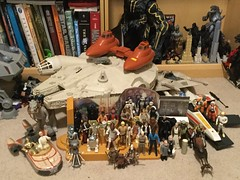 Star Wars Rebel Figures (splinky9000) Tags: kingston ontario star wars may the 4th be with you toys action figures cantina playset twin pod cloud car millennium falcon tauntaun han solo pilot luke skywalker c3po landspeeder 21b fx7 medical droids bespin guard k2so r2d2 ewoks wicket chief chirpa logray admiral ackbar major bren derlin wilrow hood nien nunb princess leia organa chewbacca wookie lando calrissian lobot hoth endor rebel trooper commando captain antilles ugnaught chirrut imwe kenner hasbro
