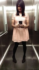 Panelled Skater Dress (~*Haley*~) Tags: dress panelled skaterdress shemale selfie stockings tights teen girl trap tranny teentrap teenshemale teencrossdresser teentranny pantyhose crossdresser crossdressing
