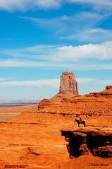 Monument Valley (8) (didier95) Tags: monumentvalley arizona usa etatsunis paysage cheval cavalier bleu ocre ciel nuage