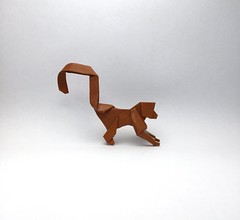 Origami Monkey (Orimin) Tags: origami paper papercraft craft handmade art animal mammal monkey brown tail jungle chinese new year mindaugas cesnavicius