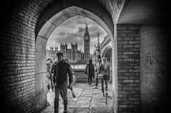 In the Darkened Door way (Kenaz.24) Tags: streetphotography london bigben urban monochrome