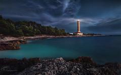 time to come home (cherryspicks (on/off)) Tags: adriatic island croatia dugiotok velirat sea mediterranean water longexposure seascape landscape lighthouse coast night beacon rocks sky