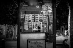 the lottery ticket assistent (sonofphotography) Tags: sonofphotography tsphotoart blackandwhite bw street portrait lifestyle photo shooting leicam240 35mmsummilux beautiful ibiza availablelight shade people