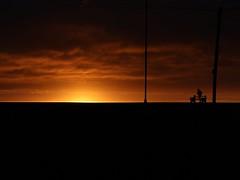 Sunset (Wildlife Terry) Tags: sunset beach seawall borth sea shore wales cardigan bay cloudsstormssunsetssunrises ceredigion yha igitto