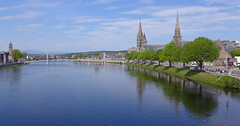 River Ness (north view) (jrw080578) Tags: trees river church reflections scotland inverness riverness highlands