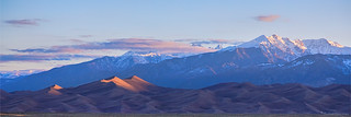 Colorado Sand Dunes First Light Sunrise Panorama
