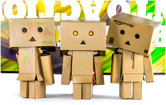 Danbo, us three. (CWhatPhotos) Tags: cwhatphotos colour color photographs photograph pics pictures pic picture image images foto fotos photography artistic that have which with contain olympus epl5 box danbo danboard toy mini light shadow shadows small dambo cartoon character head