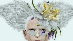 Boop (Winter Jefferson) Tags: winterjefferson lode 187 tableauvivant secondlife avatar fashion flowers albino vitiligo deerest
