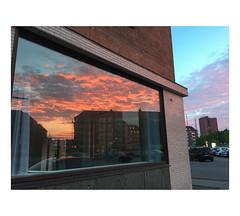 IMG_3577 (csinnbeck) Tags: aarhus denmark 2017 iphone sunset evening 8000 dk reflection window facade