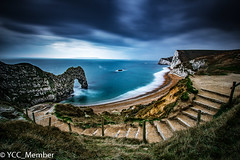 Durdle Door (yateleycameraclub) Tags: 21365 365 dorset durdledoor purbeck sea rocks seascape sunset