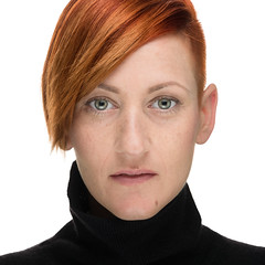 Felisha (StephanPhoto) Tags: beauty blackturtleneck clamshell female fineart flash girl greeneyes headshot lighting people portrait redhair redhead studio woman