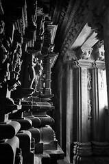 In The Kajuraho Temple (peterkelly) Tags: digital bw canon 6d khajuraho kamasutratemple india asia stone building carving sunlight sunlit sun light statue essentialindia gadventures