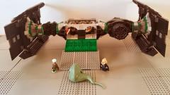Jabba the Hutt's TIE Fighter - Pilot entrance (Evilkirk) Tags: starwars lego jabba hutt tie fighter moc