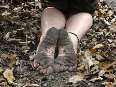 Tough soles on Autumn leaves (Barefoot Adventurer) Tags: barefoot barefooting barefoothiking barefeet barefooter barefooted baresoles barfuss earthsoles earthing earthstainedsoles energy healthyfeet happyfeet hardsoles hiking leathersoles naturalsoles naturallytough nature anklet autumnbarefooting autumnsoles autumn arch arches wrinkledsoles woodland walking strongfeet stainedsoles soil soles freedom flexiblefeet toes ruggedsoles roughsoles
