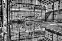 Reflective volume (Mike Y. Gyver ( Organize in Albums)) Tags: urbex urban exploration art artwork belgium belgique brussels bruxelles blackwhite hdr history europe reflexion reflect water factory nikon nikkor18105 mygphotographiewixsitecommyg2017 myg travel abandonned unknown imagination p