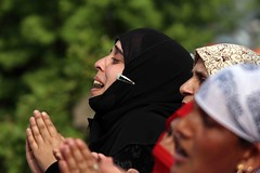 Muslim Festival in Kashmir (Umer Asif.) Tags: headpriest holy relic pray women men devotees muslim festival