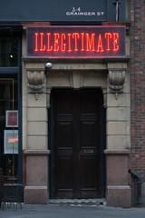Illegitimate (SReed99342) Tags: newcastle uk england illegitimate door sign