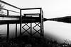 Pantalán (M.Pellitero) Tags: agua atardecer largaexposición madera nocturna paisaje pantalan pantano reflejo selgadeordas blanco negro black white