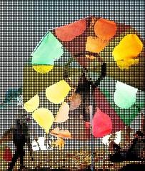 West Coast Impressions 44... (richarde9000) Tags: instagramapp square squareformat iphoneography uploaded:by=instagram lofi beach beachlife filters popart art digitalart sunset parasol umbrella silhouette