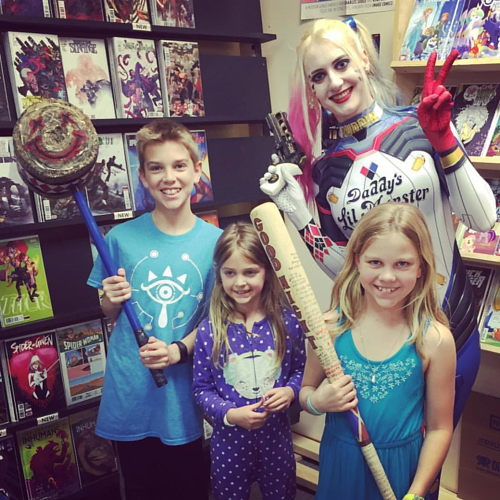 Free Comic Book Day included Harley Quinn this year. Very friendly villain.