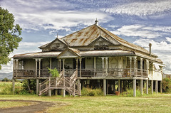 Frozen in time. (jessburrows) Tags: home homestead house architect architectural architecture design queensland australia history old creepy scary feelings colour blue green sky sun clouds landscape farm live life love family friends weekend explore travel world nikon d5100