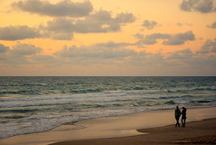 My best friend (Roi.C) Tags: clouds sea mediterraneansea nature season outdoor whether people walking talking friends couple telaviv israel nikkor nikond5300 nikon beach ngc sunset seascape landscape