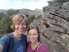 Ein Selfieauf dem Gipfel. Naja, wir üben noch.
