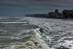 The day afther..........a small storm (DirkVandeVelde Back) Tags: europa europ europe espagne spain spanje iberischschiereiland torremolinos benalmadena sony sea strand zee meer