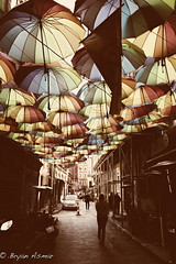 Istanbul Turkey rural Metropolitan ( umbrella street) (bryanasmar) Tags: rural metropolitan istanbul turkey trip vacations sony rx1 zeiss 352 umbrellas ali paşa değirmeni sokak ngc