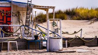 Pozo en la playa