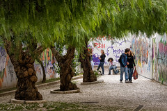 'Teenage Wasteland' (Canadapt) Tags: teens people boys girls storyline angst kiss trees alley graffiti loures portugal canadapt