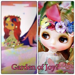 *NOT MY PHOTO* Is this a slip up preview of the 16th Anniversary Blythe? Left: Junko Wong's conception art for her. Right: Instagram pic of 2018 planner. They appear different but have similarities...