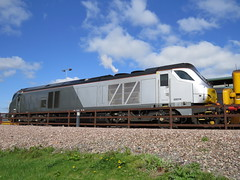 Ugly thing 68014 Stabled on DRS Crewe Gresty Bridge 22/04/2017 (37686) Tags: ugly thing 68014 stabled drs crewe gresty bridge 22042017