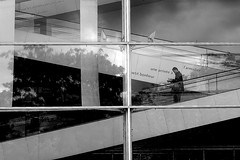 By coming back to earth (pascalcolin1) Tags: ivry homme man reflets reflection descente terre earth photoderue streetview urbanarte noiretblanc blackandwhite photopascalcolin