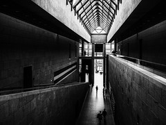 the geometry of the place (rick miller foto) Tags: black white bw mono shadows geometry perspectives ottawa canada ontario art gallery national gloomy overcast