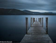 Derwent Pier (dendurk) Tags: landscape blackwhite blue clouds derwentwater lake lakedistrict landscapes longexp mono mountain pier water