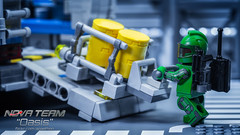 Oasis 6: Loading Up (Agaethon29) Tags: lego afol legography brickography legophotography minifig minifigs minifigure minifigures toy toyphotography macro cinematic 2017 legospace neoclassicspace spaceman classicspace space scifi sciencefiction ncs novateam customminifigure moc
