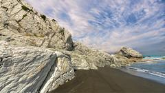 White Rock (dave.fergy) Tags: water composite summer beach landscape coast on1pics clouds whiterock wellington newzealand nz