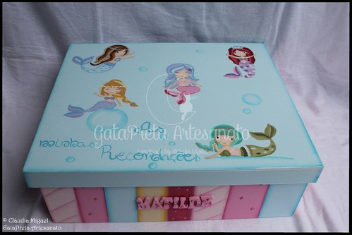 "Caixa grande ""Sweetest Mermaids"""