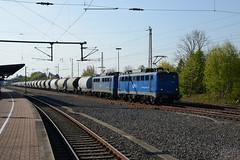 EGP 140 824 + 853 Geseke 30.04.2017 (moorbahner71) Tags: eisenbahn deutschland railway germany nikon digi cmk egp eisenbahngesellschaft potsdam güterzug geseke