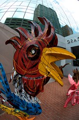 Rooster (dangr.dave) Tags: fortworth tx texas cowtown tarrantcounty panthercity downtown mainstreetartsfest mainstreetartsfestival statue rooster estatua gallo