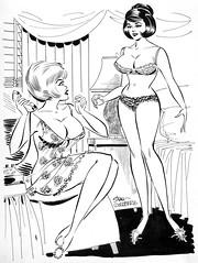 Laugh Riot comic, December 1965 by Stan Goldberg (Tom Simpson) Tags: laughriot comic 1965 stangoldberg pinup pinupart woman women lingerie vintage boobs 1960s art comics