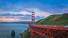 Golden Gate Bridge Vista Point (BadalChhatbar) Tags: sonya6000 sanfrancisco sunrise goldengatebridge ggb baybridge bridge nature sony1650mm architecture waterfront california