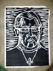 Street Art-003 (Quetzalcoatl002) Tags: streetart weird posters amsterdam urban monochrome blackandwhite personages pastor